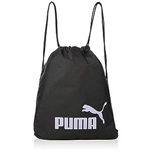 PUMA Unisex Adults' Phase Gym Sack Drawstring Bag, Black-Sweet Lavender, One Size