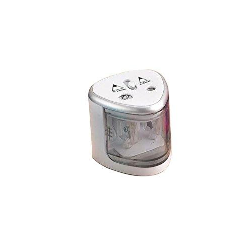 JK Elektrischer Bleistiftspitzer, Dual Löcher Automatische Anspitzer rutschsicher, -