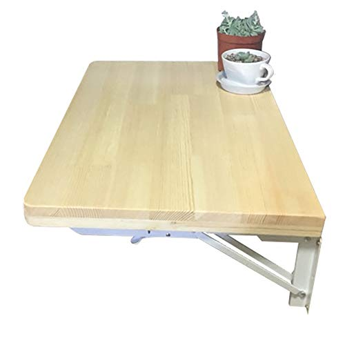 Schreibtische HAIZHEN Faltwand Tisch, Drop-Leaf Massivholz Esszimmer & Computer Natürliche Farbe Klapptisch (größe : 80 * 50cm) -