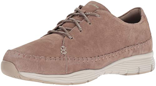 Skechers Women's Seager - Prospect - Moc-Toe Whipstitched Lace-up Sneaker - Classic Fit Sport-moc