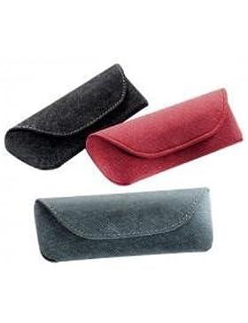 Soft touch da donna lusso Denim look stile chiusura magnetica occhiali custodia per occhiali rosso