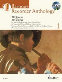 Baroque Recorder Anthology Volume 1 +CD (30 pièces) --- Flûte à bec soprano / Piano (ou Guitare)