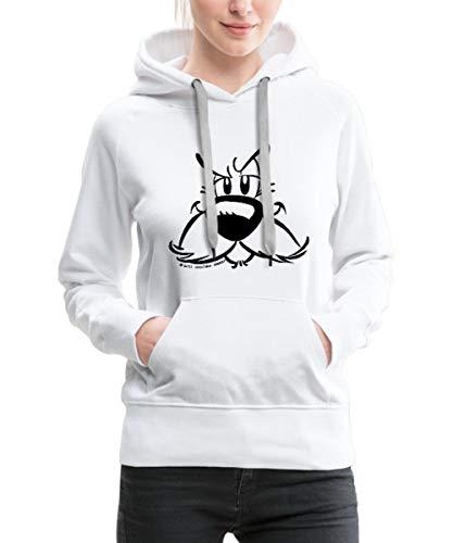 Spreadshirt Asterix - Idefix Portrait Frauen Premium Hoodie, L (40), Weiß