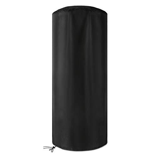 Dokon Wetterschutzhülle für Terrassenheizer Wasserdichtes Atmungsaktives Oxford-Gewebe Heizstrahler Abdeckung, Rund (50x50x120cm) - Schwarz
