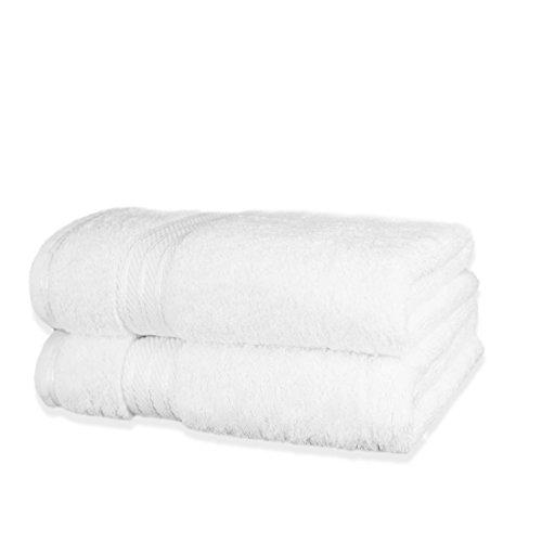 restmor Knightsbridge Set de 2 toallas de baño Extra-Grandes de 100% Algodón Egipcio Peinado 500g/m2
