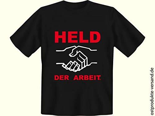Tshirt Held der Arbeit schwarz | Ossi Produkte | für Ostalgiker | DDR Geschenke -