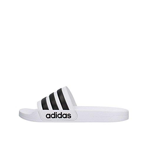 Adidas cloudfoam adilette slides, bianco, 42