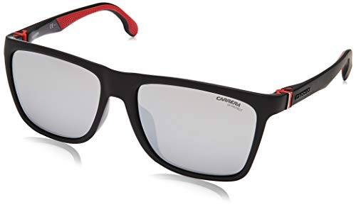 Carrera Mirrored Square Unisex Sunglasses - (CARRERA 5049/FS 003 58T4|58|Silver Color Lens)