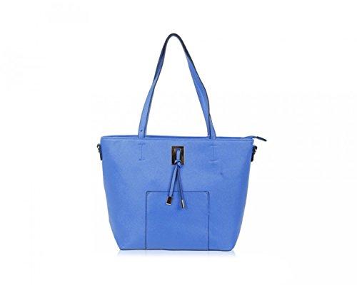 LeahWard® Damen Groß Schultertaschen Damen Handtaschen Mode Essener Berühmtheit Käufer Qualität Kunstleder Handtaschen CWRS150921 CWRS150922 CWRS150921 Royal blau