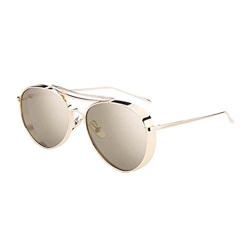 Black Temptation Strassenart und weiseart Katzenauge gespiegelte Anti-UVA Anti-UVB Metallrahmen-Sonnenbrille