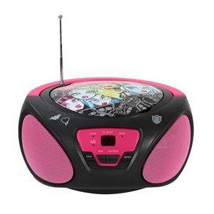 Sakar CD-Player Monster High für Kinder, FM-Radio, tragbar, batteriebetrieben, AUX-Eingang für iPhone, Android, iPod, MP3-Player (Kinder Monster High)