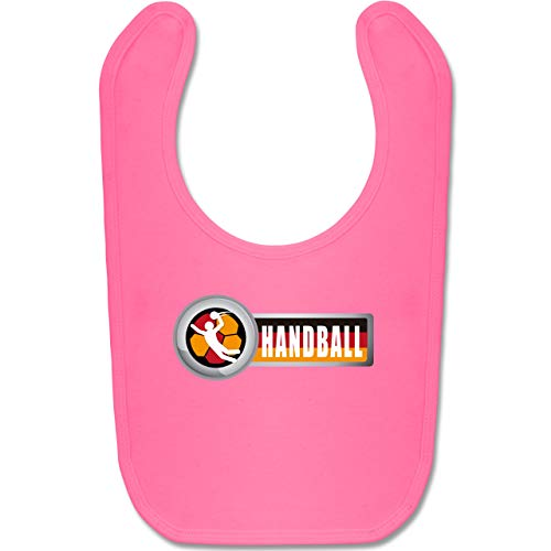 Shirtracer Handball WM 2019 Baby - Handball Deutschland 2 - Unisize - Pink - BZ12 - Baby Lätzchen Baumwolle