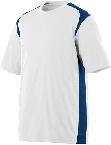 Augusta Herren T-Shirt Mehrfarbig - White/navy