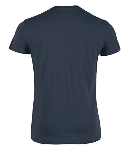 YTWOO Herren Rundhals Tshirt Aus 100% Bio-Baumwolle- in Diversen Farben Schwarz und Weiß bis 2XL - Organic, Herren Bio Shirt, Herren Bio T-Shirt India ink Grey