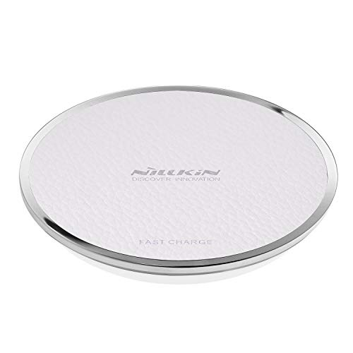 Nillkin Fast Wireless Charger, Magic Disk 3 Qi Kabelloses Ladegerät Drahtloses Induktive Ladestation für iPhone XS/XS Max/XR/X/iPhone 8/8 Plus, Samsung Galaxy S9/S9 Plus/S8/ S8 Plus/Note 9 (Weiß)