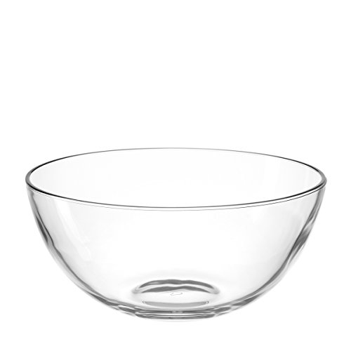 Leonardo 066328 Cucina Schale 26 cm, Glas, klar, 25.50 x 25.50 x 11.50 cm (Dekorative Glas-schüssel)
