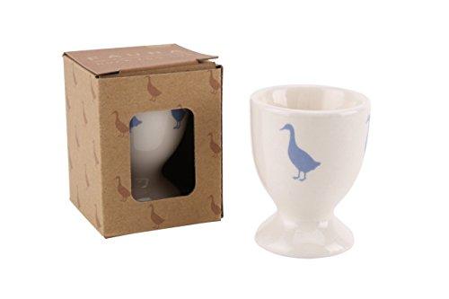 Ente Design Keramik Eierbecher Fauna Wildlife Reihe in Geschenk-Box (Blaue Keramik-ente)