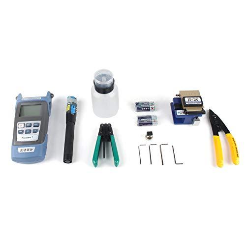 Glasfaserkühlung Werkzeuge Set Leder Draht Optisches Kabel Optische Leistungsmesser Rotlicht Stift Stripper Cutter Werkzeugkasten