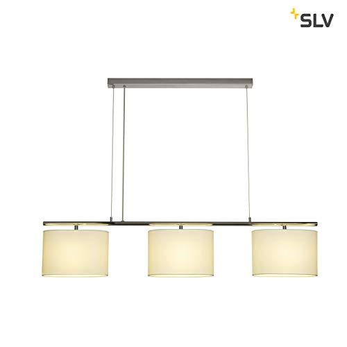 SLV TRIADEM Leuchte Indoor-Lampe Textil/PS/Stahl Weiß Lampe innen, Innen-Lampe -