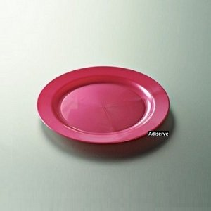12 assiettes mariage jetables plastique couleur fuchsia nacré 24 cm - Adiserve -