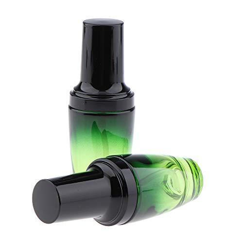 Homyl 2 Stücke Reise Tragbar Glas Pumpspender Cremespender Pumpflasche Sprühflasche für Creme Lotion Shampoos, Flüssigseifen usw. - 30ML - 30-ml-pump-flasche