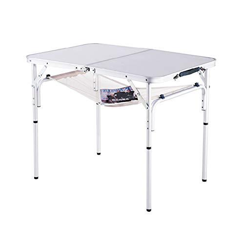 PM-TAIDU Klapptisch Draussen Freizeit Camping Stall Table, Tragbar Picknick Grill Esstisch, Innen Laptop-Tisch, Weiß 60 * 90 * 70 cm