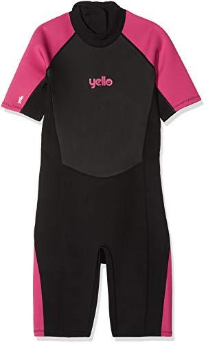 Yello - Sailfin Shorty - Combinaison de plongée - Femme - Noir/Rose - Large