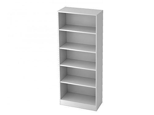 Aktenregal DR-Büro Serie V6 in 5 Ordnerhöhen - Regal erweiterbar - Maße 80 x 40 x 200,4 cm - 5...