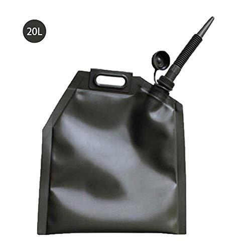 tstoff kanister Benzin Container Tasche Portable Ölfass Tank Kanister 10L 20L 30L Faltbar Tragbar Kraftstoff Kanister Mit Ausgießer ()