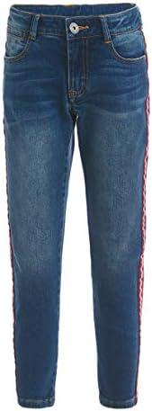 GULLIVER Pantalones vaqueros para niños con rayas laterales, 8-13 años, 134-164 cm, color azul