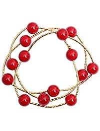 83e08aa23d98 Amazon.es: Pulseras rojas - Chapado en plata / Mujer: Joyería