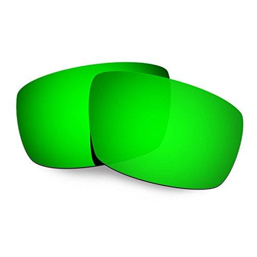 HKUCO Plus Mens Replacement Lenses For Spy Optic Logan Sunglasses Emerald Green Polarized