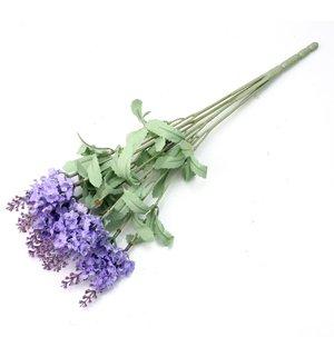 RHX Künstlicher Lavendelstrauß mit 10Blüten, zur Dekoration und für Partys, Hellviolett von RHX auf Du und dein Garten