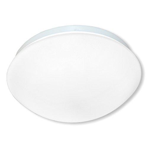 LED Decken-/Wandleuchte Indoor 20W 4000K 120LEDs eingebauter 360º Bewegungsmelder - Diffusor aus Milchglas (100w Milchglas-lampe)