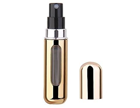Rethinkso 5ml Mini vide remplaçable Parfum Atomizer Bouteille Voyage Pompe à parfum Portable Spray Case (gold-1)