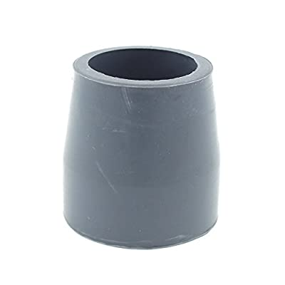 """27mm (1 1/16"""") Grey Rubber End Caps Stoppers Ferrules Tips For Drive Walking & Zimmer Frames"""