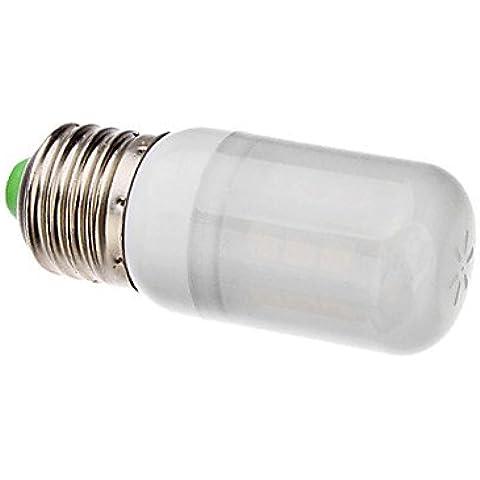 YangR* E27 3W 27x5050SMD 300-330LM 3000-3500K blanca cálida cubierta blanca LED Lámpara de maíz (ca 110-130/220-240 V CA) ,