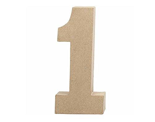 large-205mm-paper-mache-number-1-paper-mache-shapes-papier-mache
