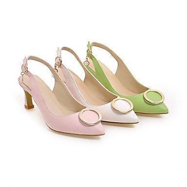 LvYuan Da donna-Zoccoli e ciabatte-Formale Casual Serata e festa-Altro Club Shoes-Quadrato-Finta pelle-Verde Rosa Bianco White