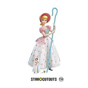 Star Cutouts SC1360 Bo Peep - Figura de juguete de tamaño real (4 unidades, 149 cm de alto), diseño de lunares, color rosa y blanco