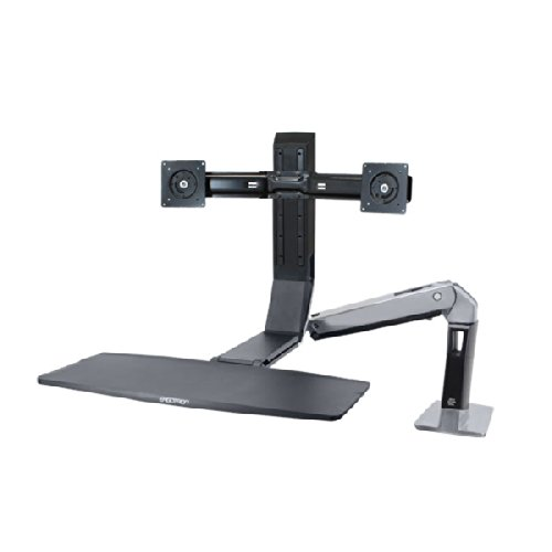 Ergotron WorkFit-A Dual Workspace for Up to 22 inch Screen
