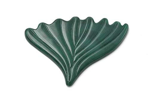 Vintageparts DIY Meerjungfrau Flosse aus Vintage Kunststoff in waldgrün 7 x 5 cm zum Schmuck selber Machen