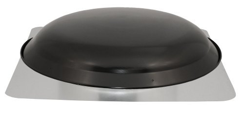 Cool Attic CX4000AMBL Power Attic Roof Mount Ventilator with 5.1-Amp PSC Motor and Steel Flange, Black Galvanized Steel Dome by Cool Attic - Power Roof Mount