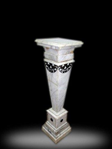 Barock Blumen - Säule Marmor Rokoko Antik Stil MkMa0038