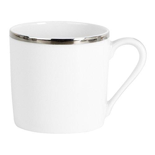 Lot de 6 tasses a café GALON PLATINE