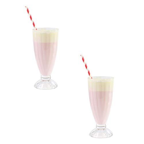 Batidos y copas de helado de Ice Cream American Diner estilo juego de 2