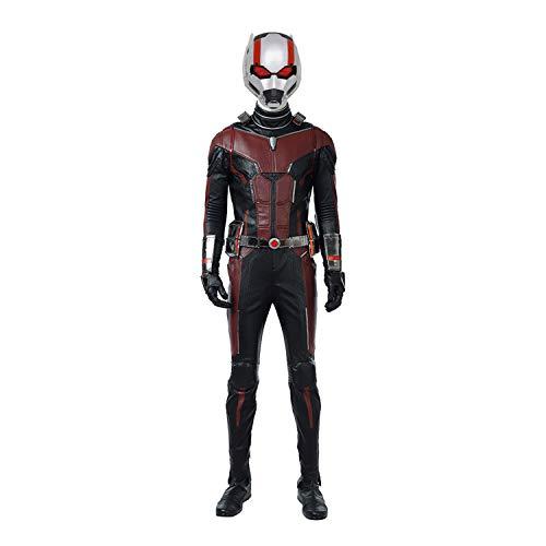 Und Antman Kostüm Wasp - QWEASZER Ant-Man und Wasp, Ant Man-Kostüm Adult Marvel Avengers Superheld Cosplay Onesies, Westen, Schuhe, Handschuhe, Helme Illuminate Halloween-Party Props,Scott Lang-S
