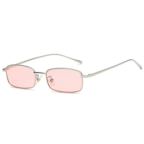 Fauhsto Sunglasses Unisex Sunglasses Hipster Small Square Sunglasses Vintage Ocean Tablet Sunglasses Metal sunglasses
