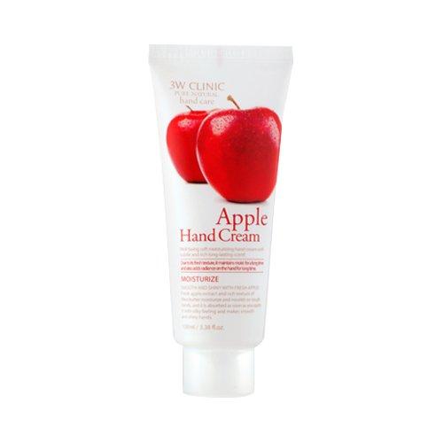 3W Clinic Apple Hand Cream Handcreme mit Apfel Extrakt und Sheabutter für Männer und Frauen - Handpflege gegen trockene Haut Maniküre