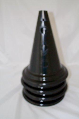 Grand Sport/Jeux Formation Lot de 4Cônes marqueurs 34cm/33cm 7couleurs couleur?: noir